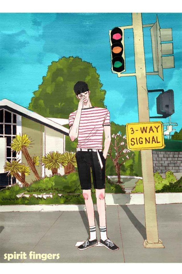 Pin Oleh Alice Hằng Di Spirit Fingers Animasi Sketsa Fotografi Remaja