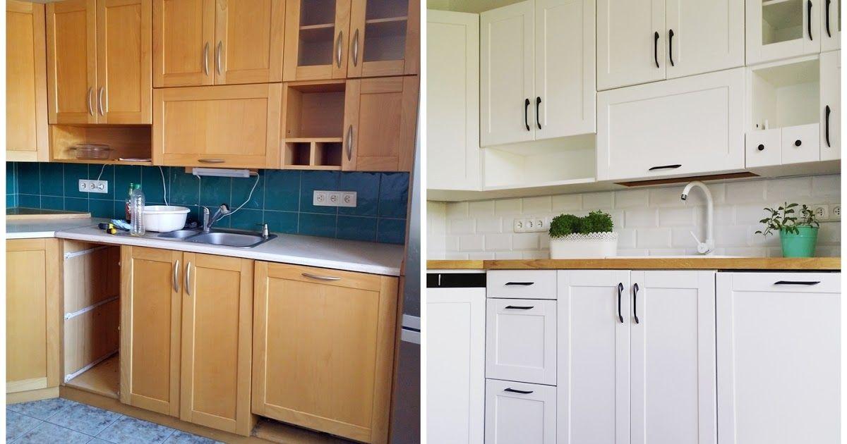 Jak Przemalowac Meble Kuchenne Jak Niskim Kosztem Odnowic Kuchnie Jak Malowac Meble Meble Kuch Kitchen Cabinets Before And After Kitchen Cabinets Home Decor