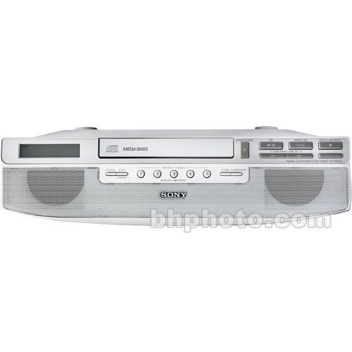 Marvelous Sony Icf Under Cabinet Kitchen Clock Radio Stereo Bluetooth Player Dab  Silver