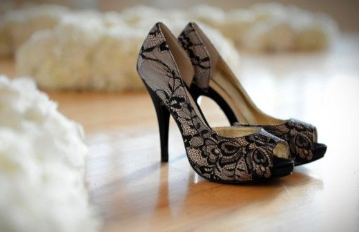 Black Lace Bridal Pumps From The DSW Disney Glass Slipper Collection