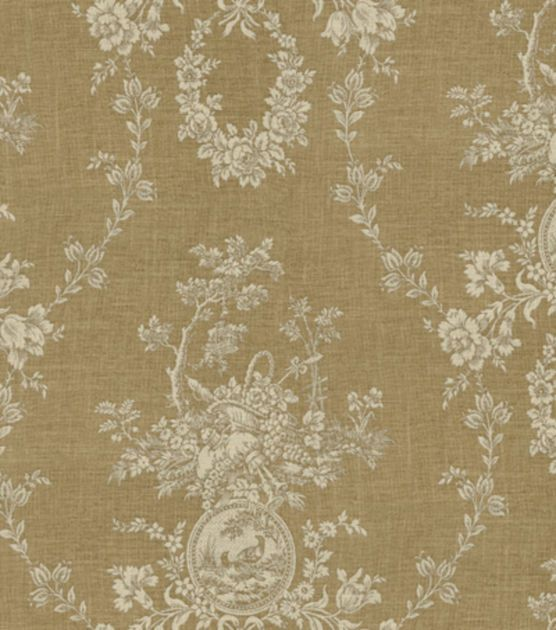 "Decorating Ideas Toile Fabric: Home Decor 8""x8"" Fabric Swatch-Waverly Country House"