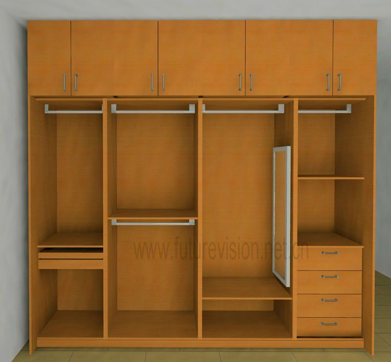 Modern bedroom clothes cabinet wardrobe design el 300w for Bedroom cabinet ideas