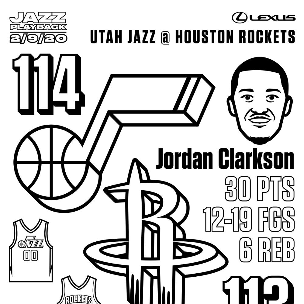 Coloring Book Utah Jazz Utah Jazz Jazz Utah