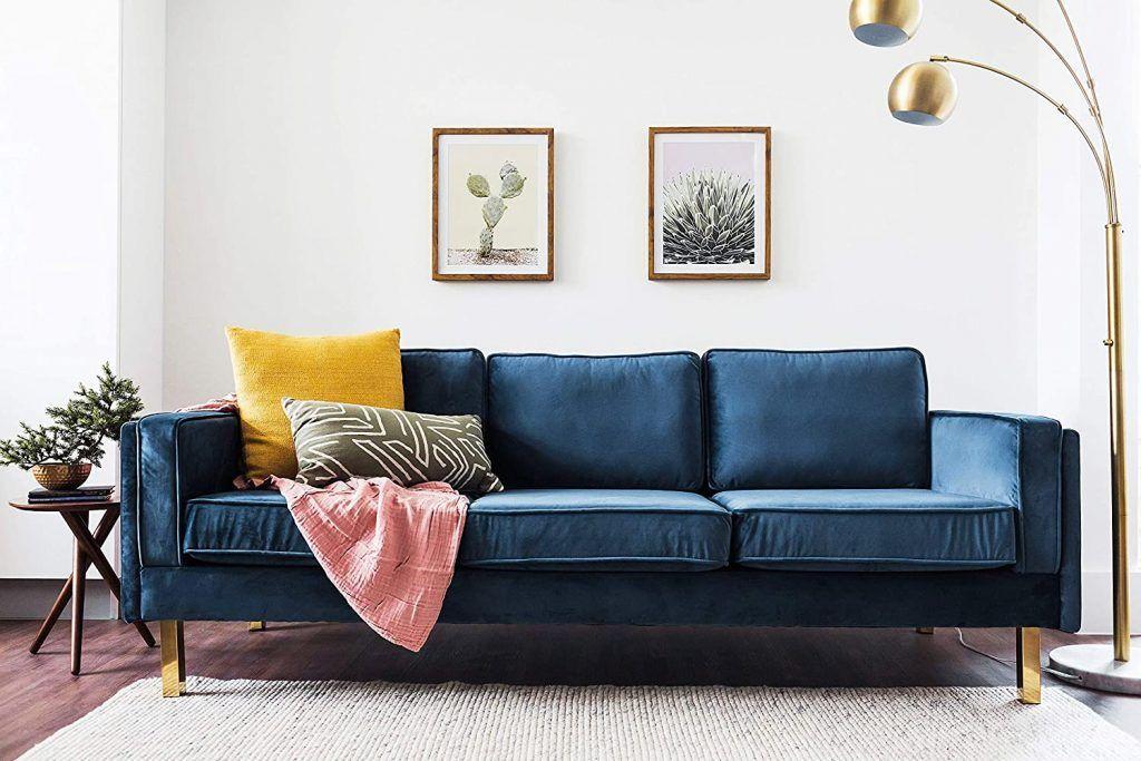 Blue Velvet Sofas With Creative Living Room Decor Ideas In 2020 Blue Couch Living Room Blue Couch Living Blue Sofa Living #velvet #sofa #living #room