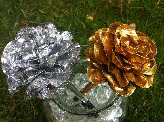 Duct Tape Gold or Silver Pen by TorisTapetals on Etsy, $4.49