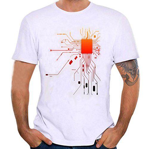 Camisas Hombre ❤️Amlaiworld Blusa de manga corta de moda para hombres Camiseta de impresión informal Tops polos… jLiw3