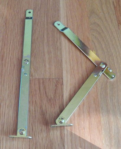 Folding Drop Lid Desk Support Stay 10 1 2 Inch Pair In Brass Plate
