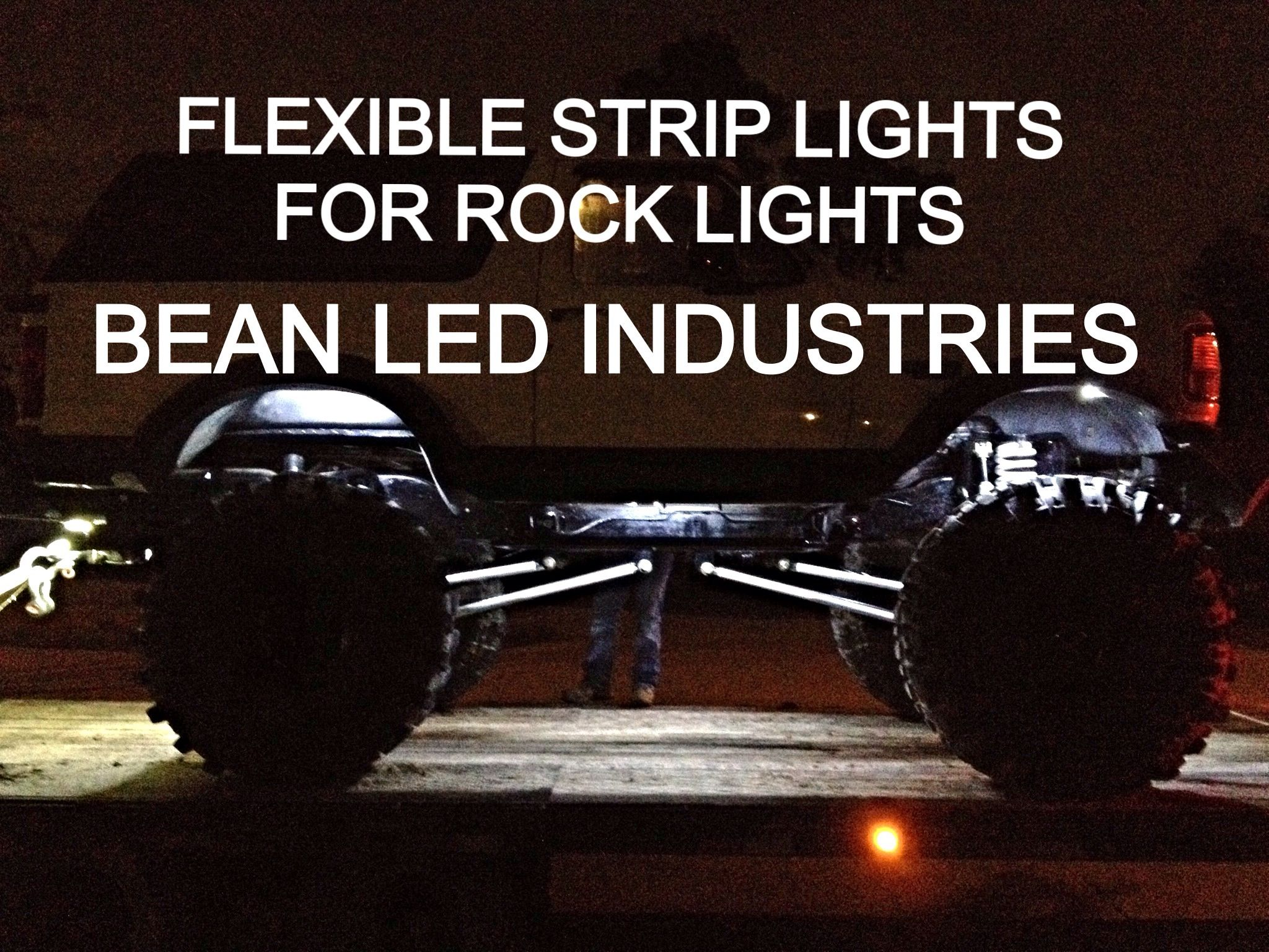 Lifted Ford Bronco with rock lights