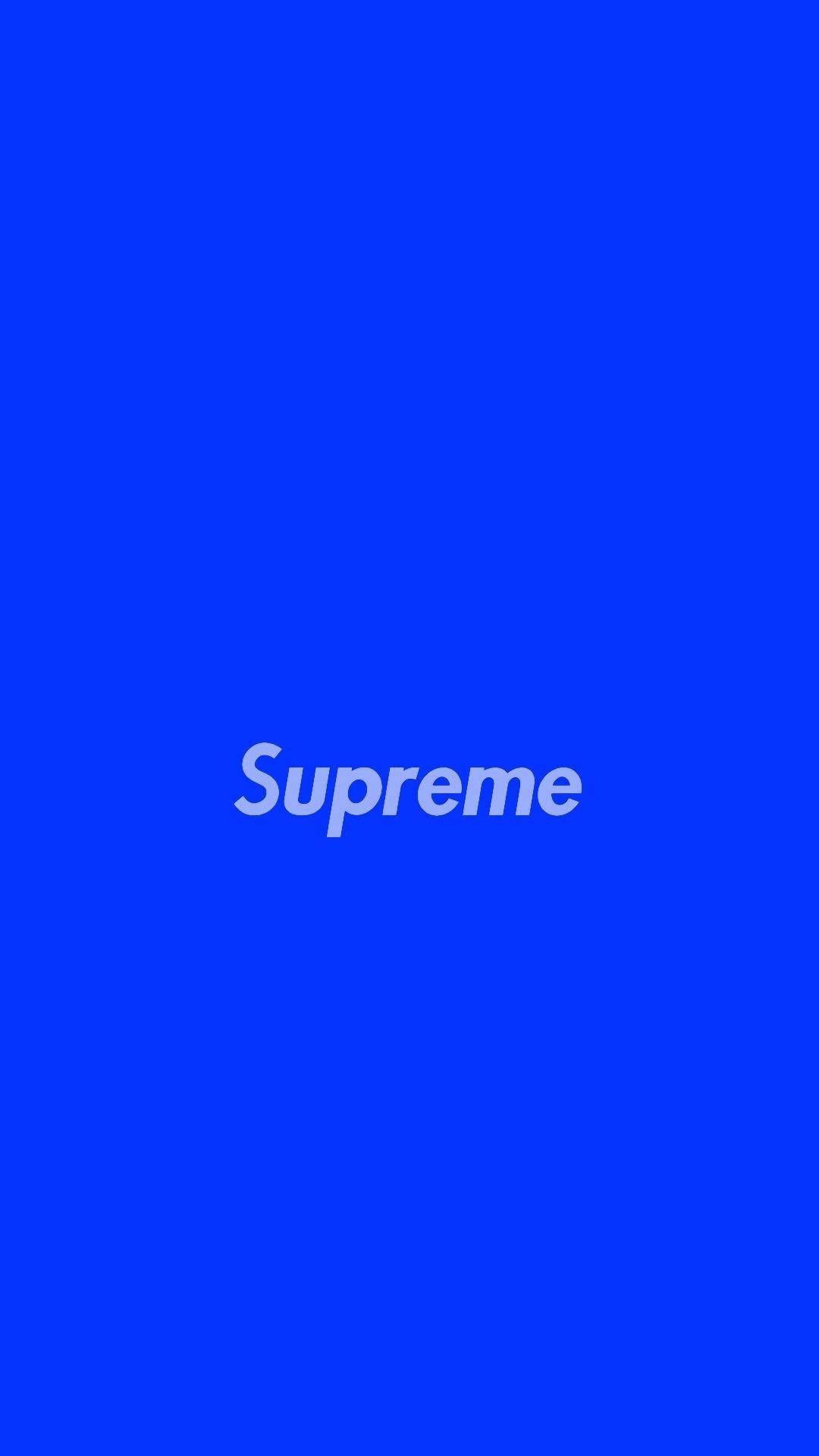 Pin By Ashton Latimer On Hypebeast Supreme Wallpaper Iphone Wallpaper Blue And White Wallpaper