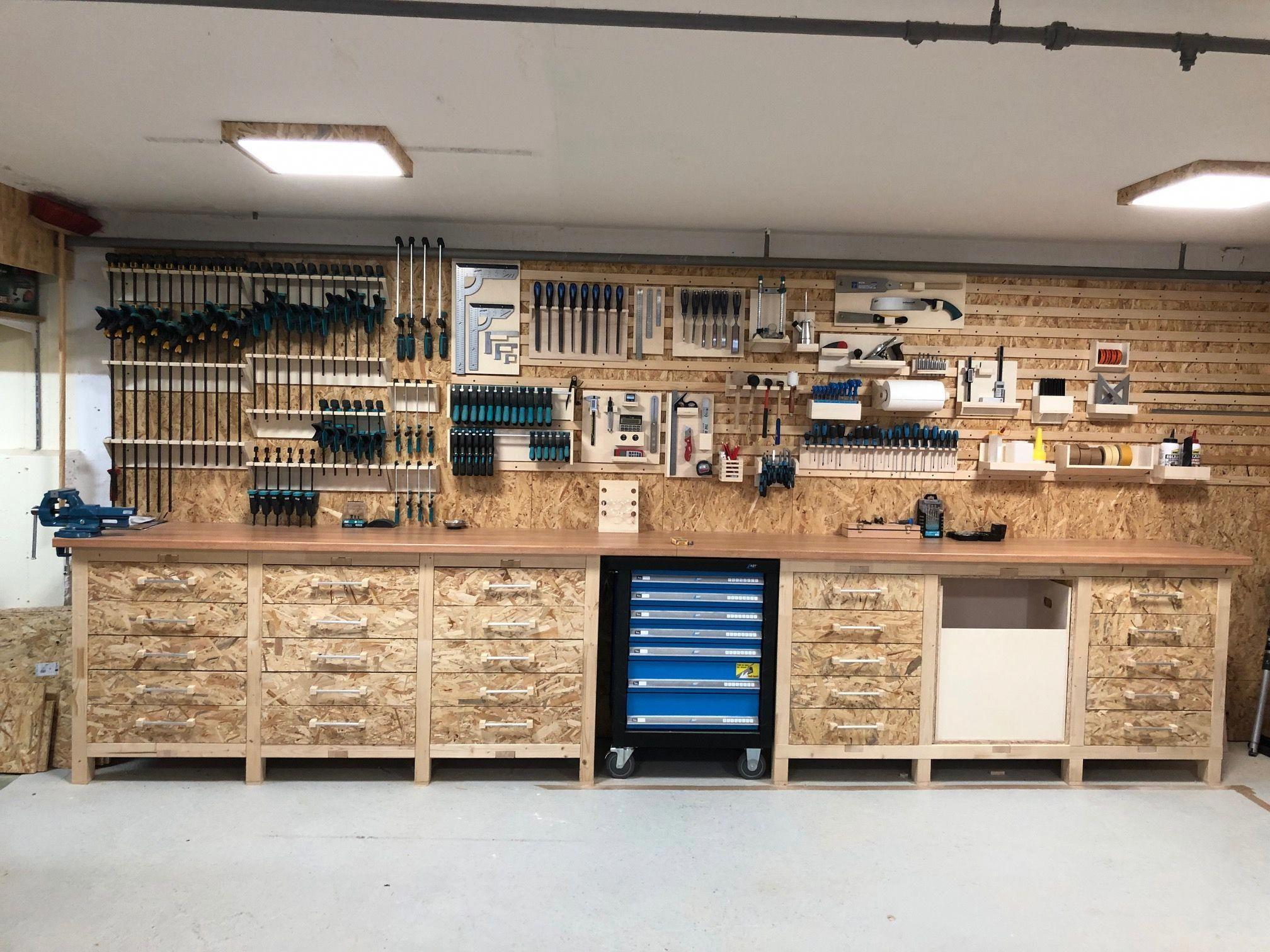 Werkstatt By Cosma Design Heimwerker Helden De Bricolagemaison Materielbricolage Bricolagefacile Bricol Rangement Garage Agencement Garage Rangement Atelier