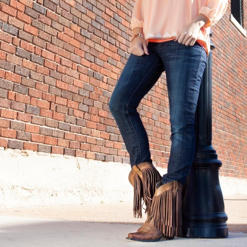 Shop Women\'s Ariat Gold Rush Terra Brown Cowboy Boots | Boots ...