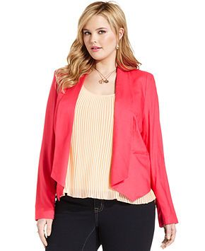 Jessica Simpson Plus Size Jacket, Open-Front Blazer - Plus Size Jackets & Blazers - Plus Sizes - Macy's