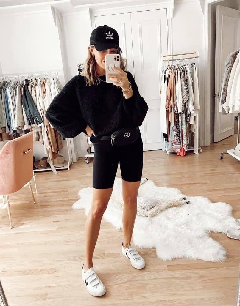 Blow Me Away Biker Shorts – Black