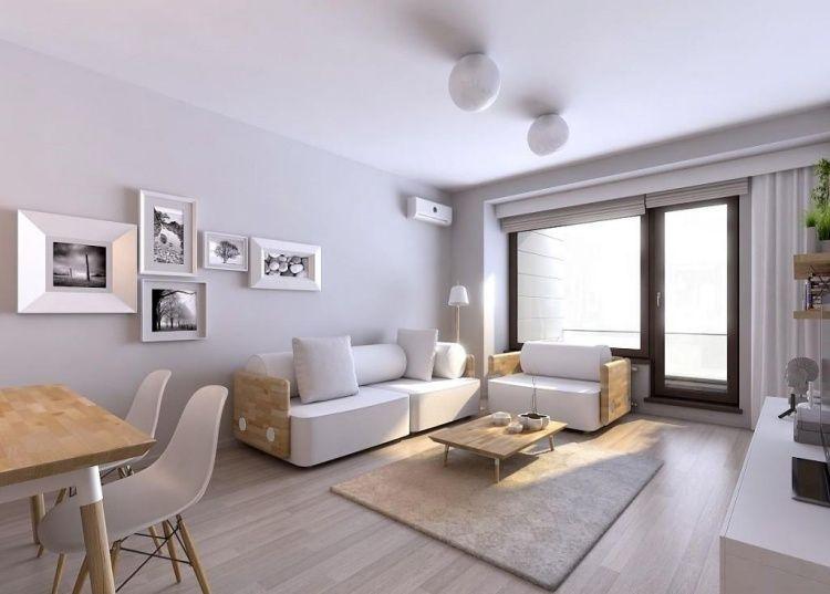 mobilier de salon blanc ? idées de déco et aménagement | déco ... - Meubles Bois Clair Design