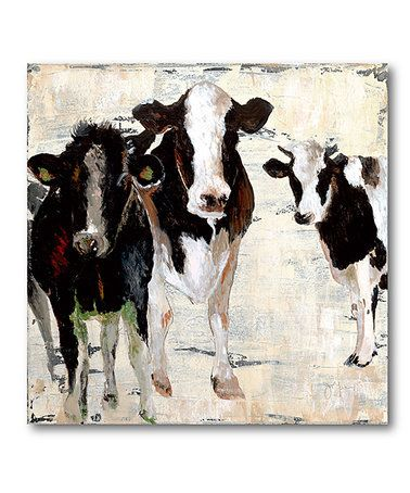 This Black White Cow Wrapped Canvas Is Perfect This Might Be My