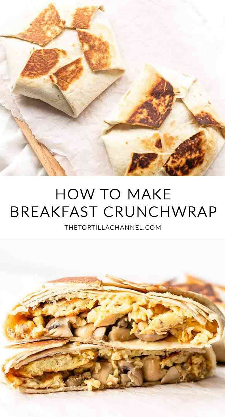 Breakfast crunchwrap step by step instructions the