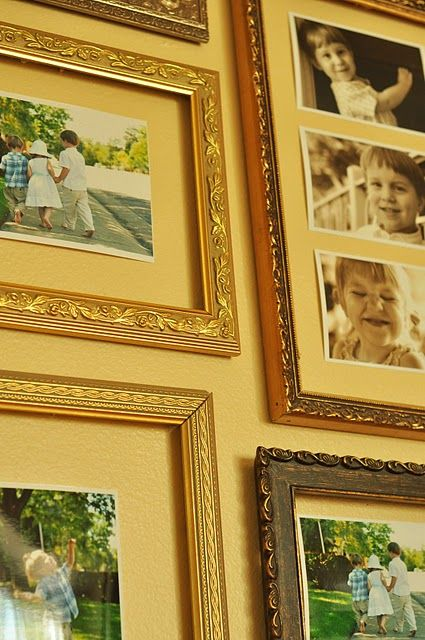 Hang Frames On The Wall That Is Painted Use Sticky Tack On The Back
