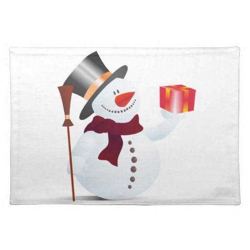 #Schneemann/#Schneemann für #Weihnachten/#Weihnachten #Tischset von #zazzle.de 19,95 € pro #Tischset