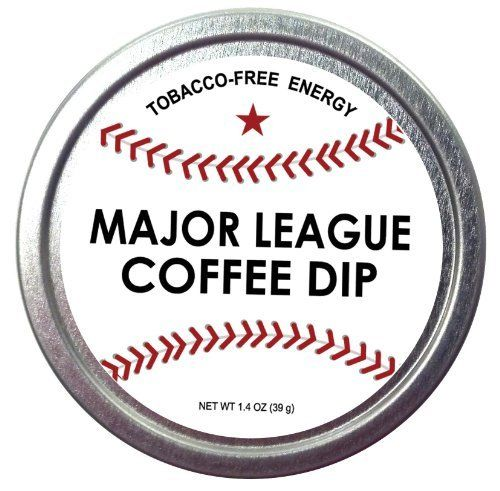 Major League Coffee Dip (Pack of 3) Quit Chewing Tin Can Non Tobacco Nicotine Free Smokeless Alternative to Chew Snuff Snus Leaf Los Angeles Angels of Aneheim Oakland Athletics Seattle Mariners Texas Rangers Cleveland Indians Detroit Tigers Minnesota Twins Kansas City Royals Chicago White Sox Toronto Blue Jays Baltimore Orioles Tampa Bay Rays Boston Red Sox New York Yankees Washington Nationals New York Mets Philadelphia Phillies Atlanta Braves Florida Miami Marlins Milwaukee Brewers St…