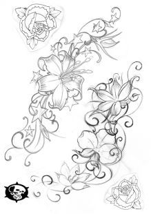 Pin by katy jones on tattoo ideas pinterest drawing ideas drawings and tattoo - Orchideen tattoo vorlage ...