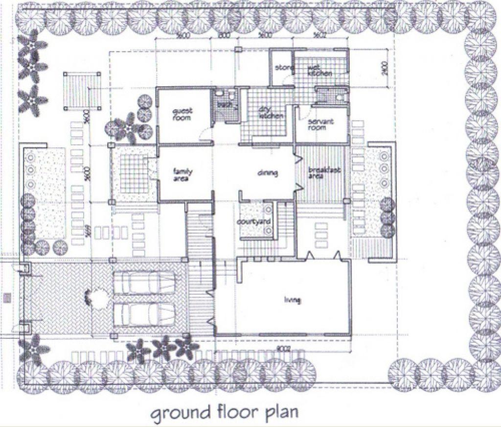 Pelan Rumah Banglo 2 Tingkat Modern Design One Bed Craftsman Floor Plans