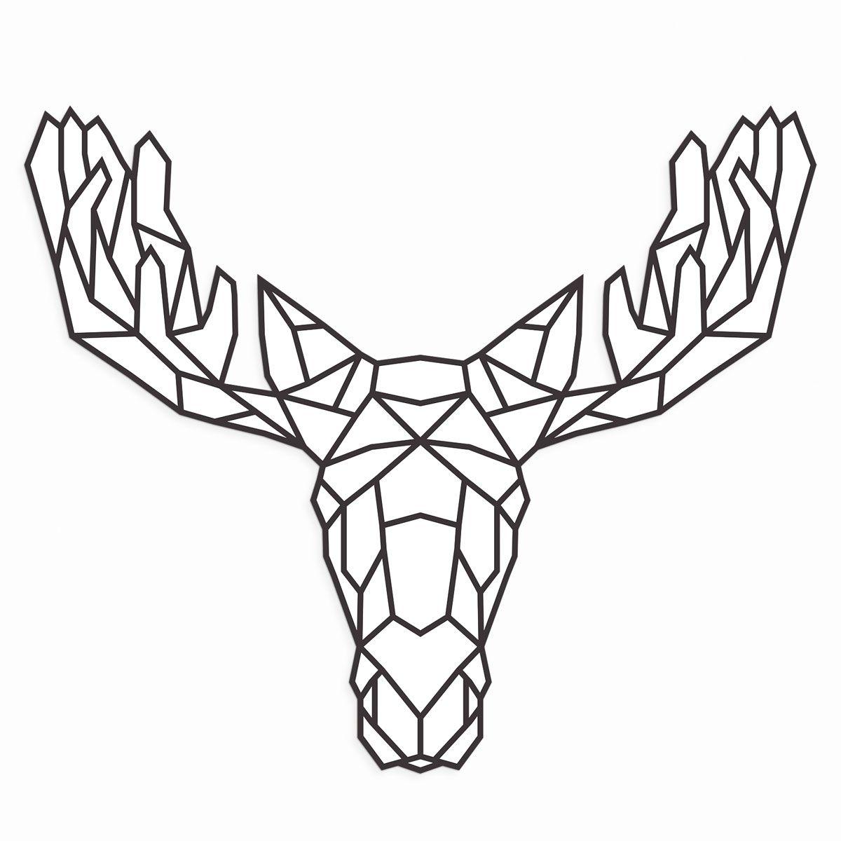 Pin By Smm On Geometric Animal Image Moose Tattoo Geometric Animal Tattoo Geometric