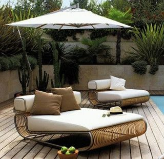 Wide lounger, daybed | Outdoor furniture | Pinterest ...
