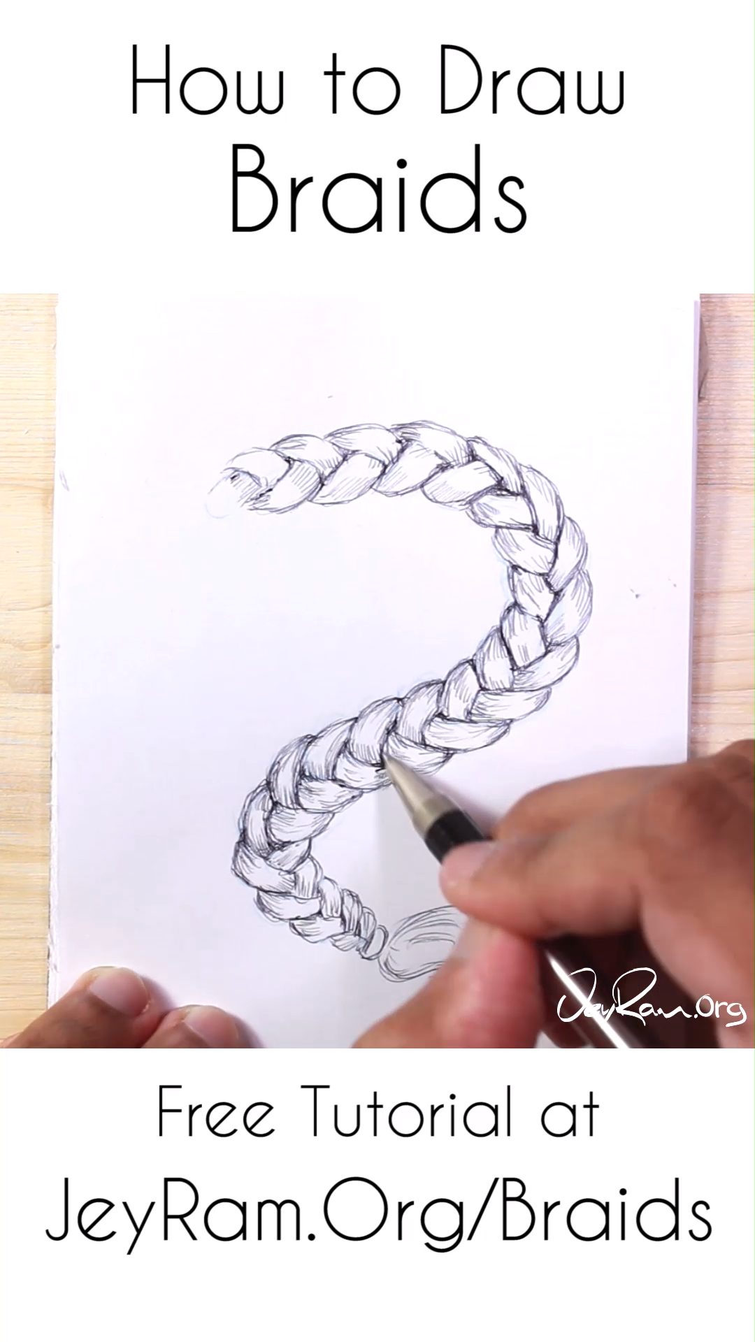 How To Draw Braids Easy Tutorial For Beginners Video How To Draw Braids How To Draw Hair How To Draw Anime Hair