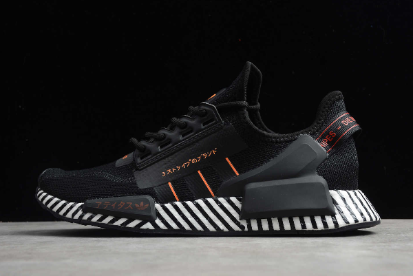 2020 Adidas Nmd R1 V2 Black Orange White Fw6411 For Sale In 2020 Adidas Nmd R1 White Shoes Men Adidas Nmd