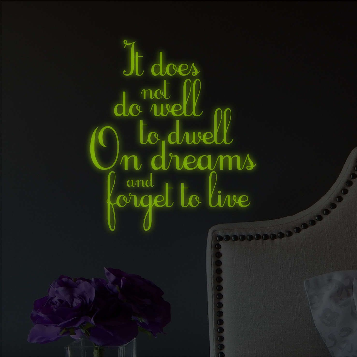 GLOW IN THE DARK Harry Potter Insiprational Quote WALL STICKER Decal SQ1034