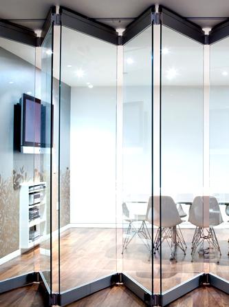 Folding Accordion Doors For Office Porta De Vidro Divisoria De
