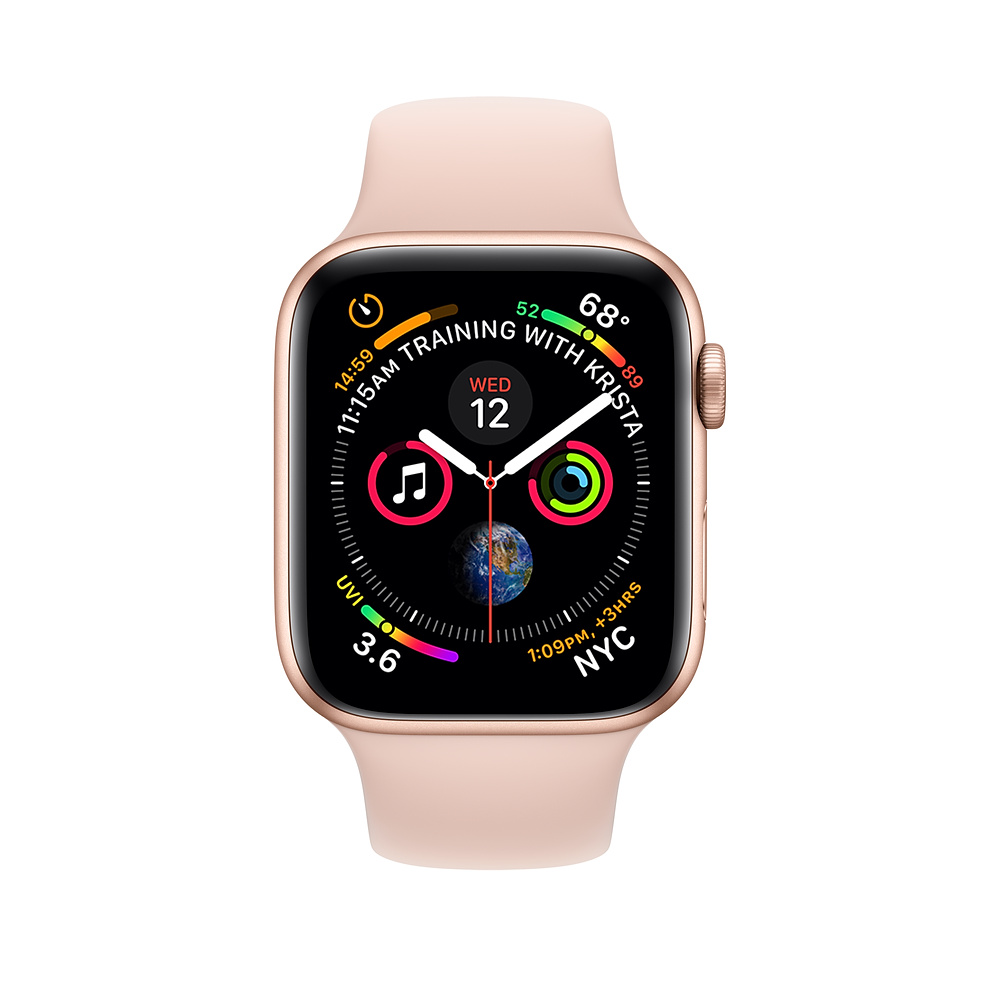 Apple Watch Series 4 Gps 40mm Gold Aluminum Case With Pink Sand Sport Band Apple Apple Watch Buy Apple Watch Apple Watch Series