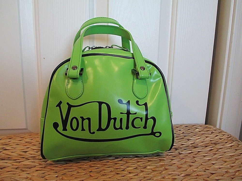Von Dutch Purse Bowling Bag Green Black Vondutch