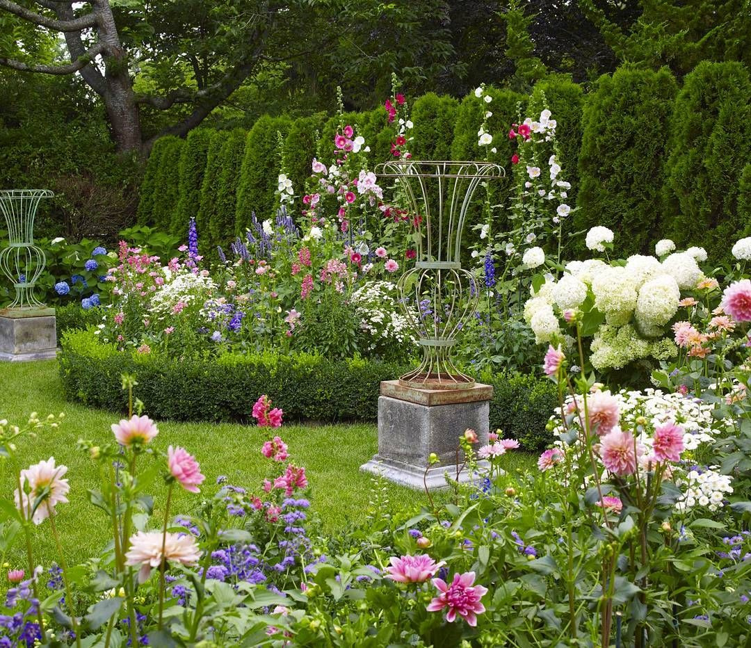 Celebrating Beauty In Everyday Living: Postcard From Heaven...dhalias, Hollyhocks, Irises