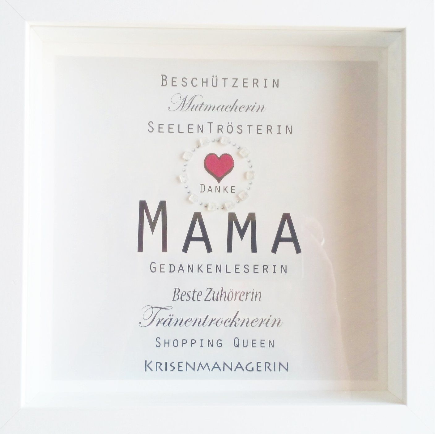 muttertag weihnachtsgeschenk mama beste mama danke mama wandbild wandeko personalisierbar. Black Bedroom Furniture Sets. Home Design Ideas