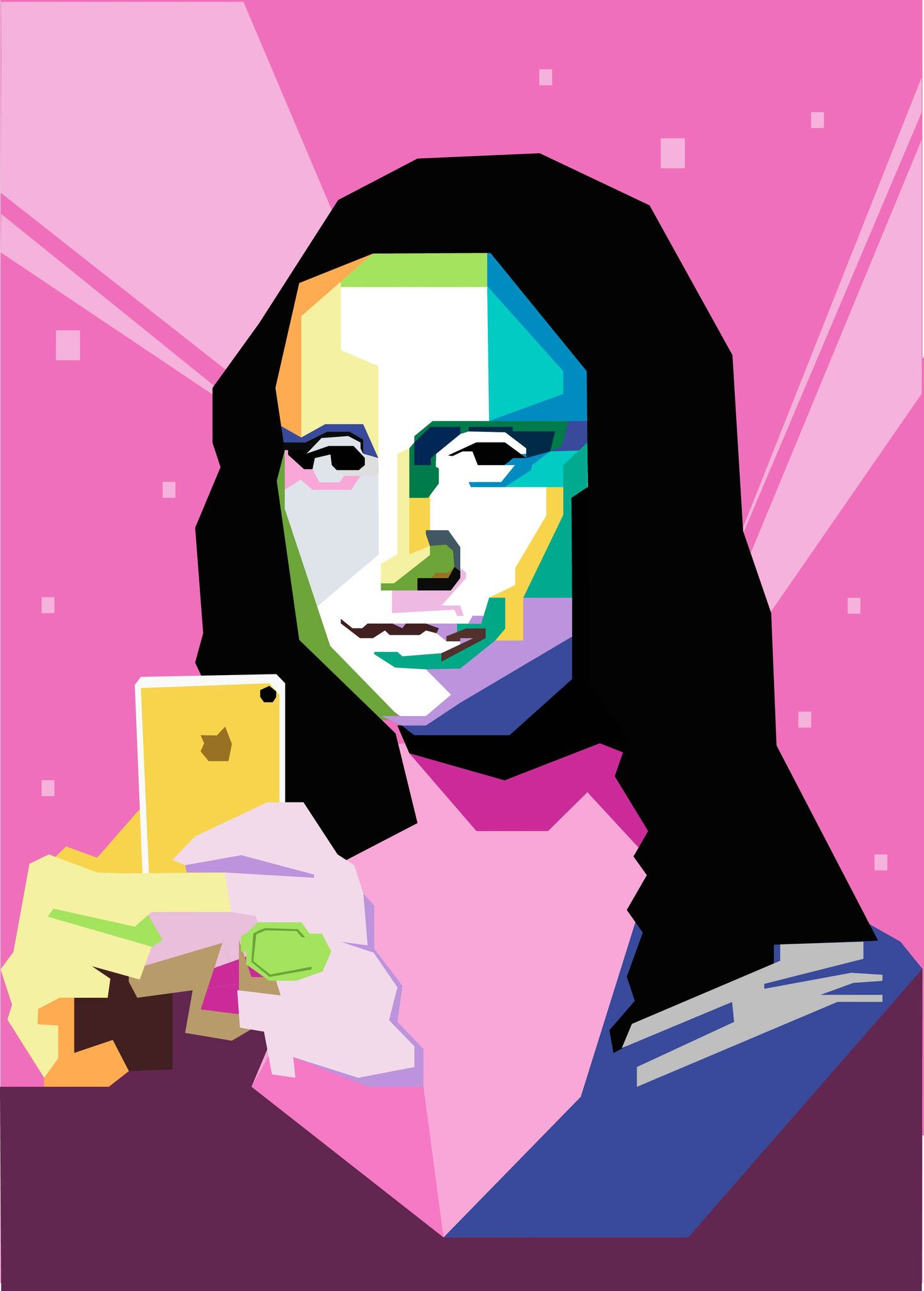 Poster: Mona Lisa graphic
