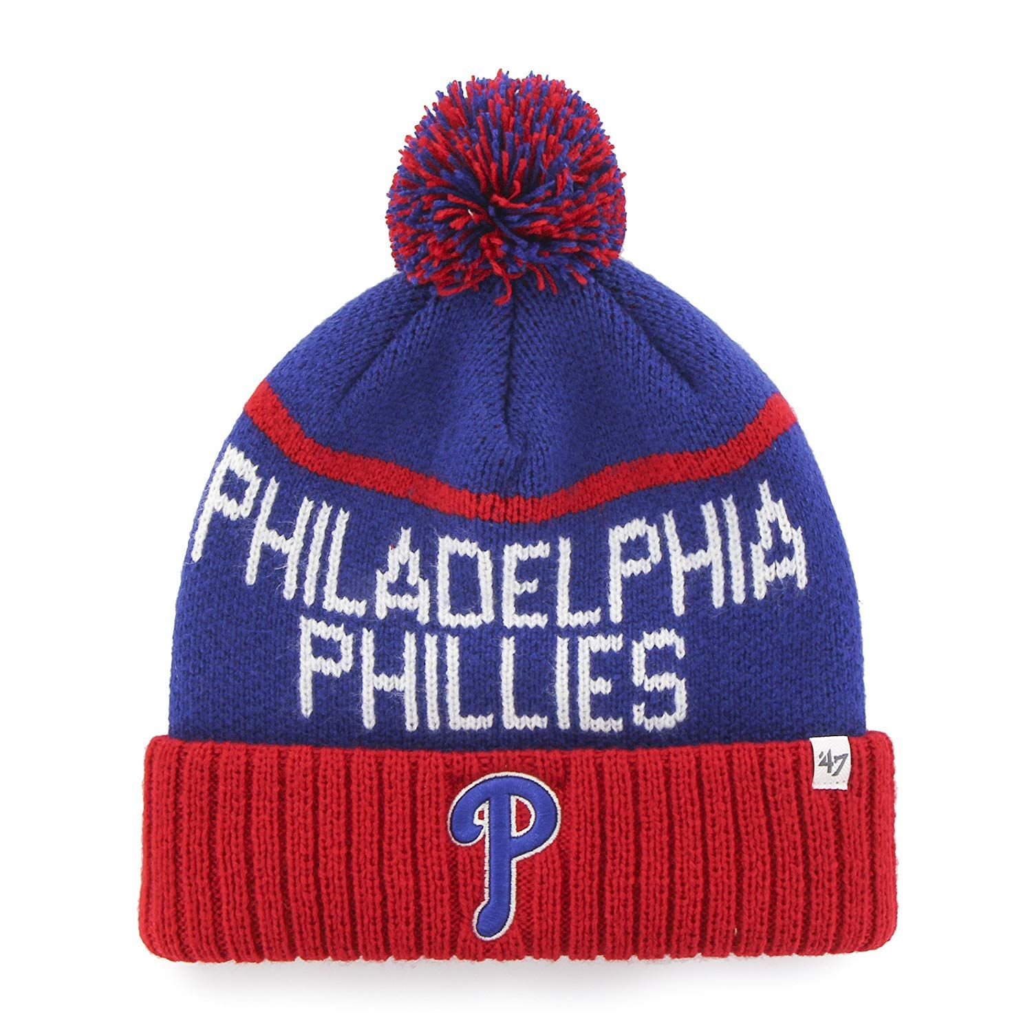 d0af98456a1 MLB Philadelphia Phillies  47 Linesman Cuff Knit Hat with Pom ...