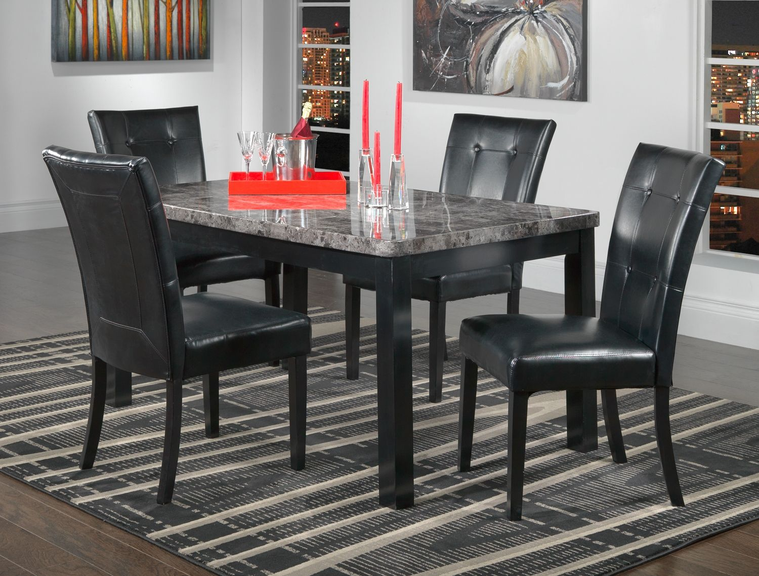 Admirable Martina Casual Dining 5 Pc Dinette Leons Dining Room Dailytribune Chair Design For Home Dailytribuneorg