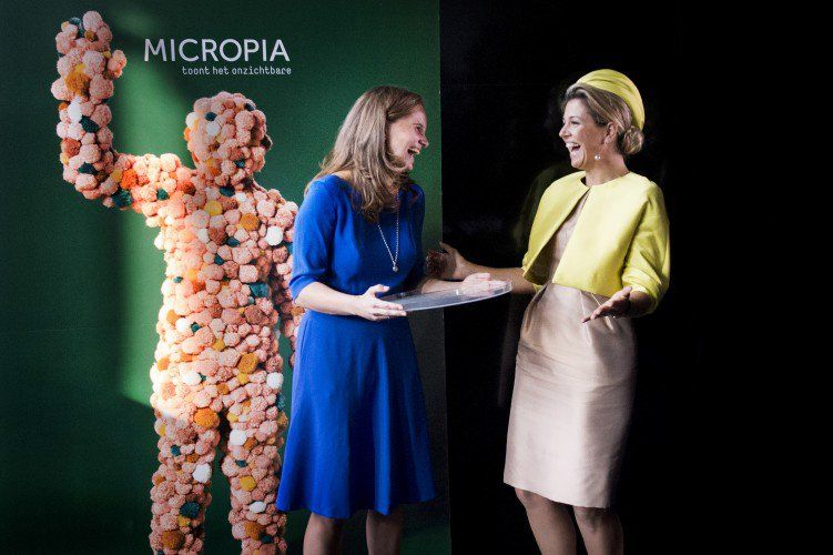 Máxima had a lot of fun opening the museum in a slightly different way than usual.