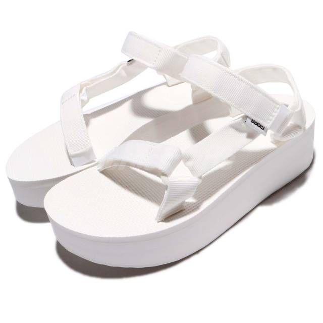 60fe39fcefae Teva W Flatform Universal White Women Platform Fashion Sandal 1008844BRWH