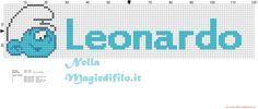 Nome Leonardo con baby Puffo - 2604x1112 - 725272