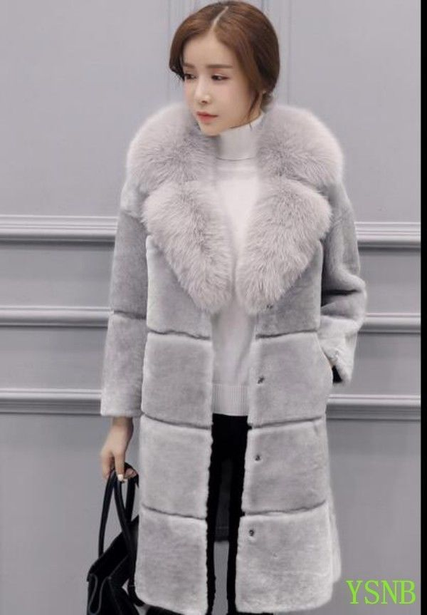 51a239d9cb6 Women Winter Warm Faux Fox Fur Long Parkas Outwear Overcoats Jackets Warm  Coats