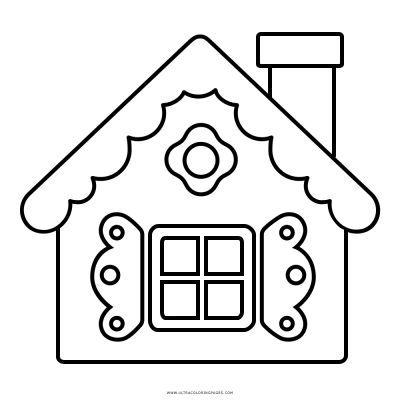 Casa Di Marzapane Disegni Da Colorare Casa Colorare Da Di Disegni Marzapane Christmas Coloring Pages Christmas Embroidery Patterns Applique Quilts