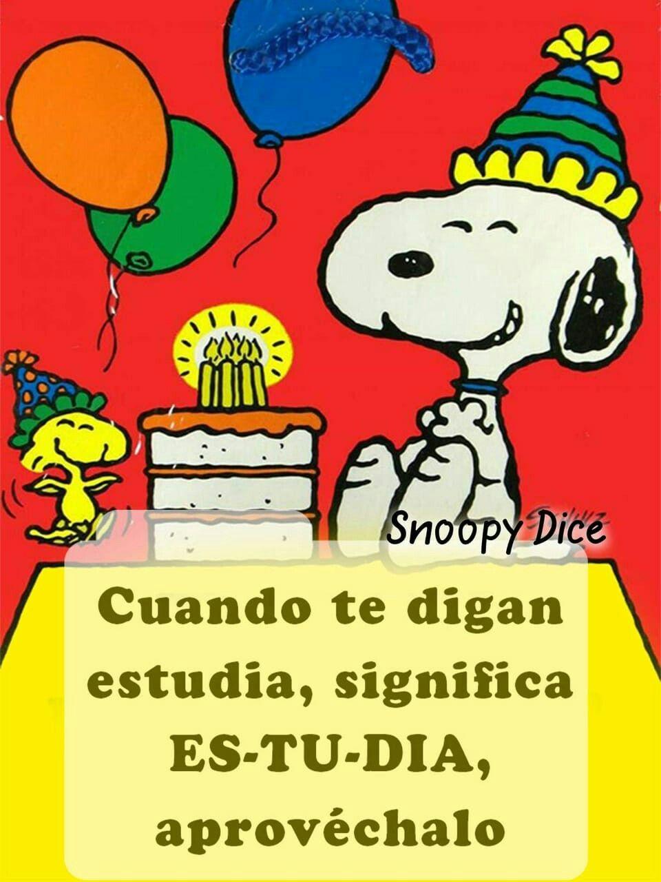 Pin de Maria H en Happy birthday snoopy images Feliz