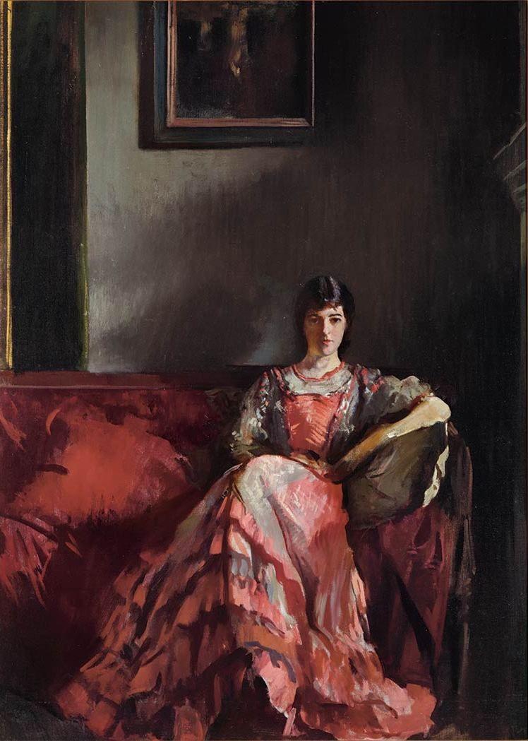 Mercie in Room, Interior - Edmund Tarbell