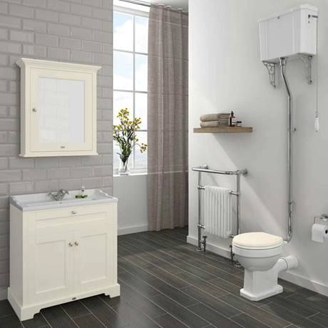 Old London Traditional Vanity Unit (800mm Wide - Ivory ...
