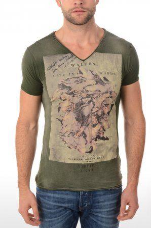 Pearly king t-shirt Walden Green Walden Green » JeansandFashion.com #JeansandFashion #Army #Camo #PearlyKing