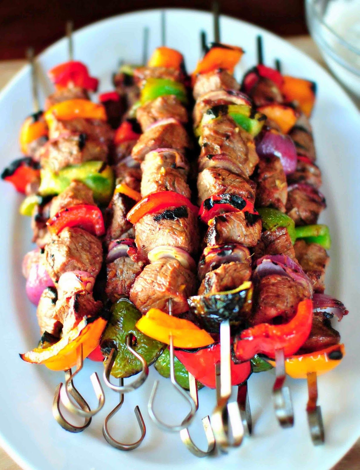 Marinated Steak Kebabs !! ~ GeCook Recipes