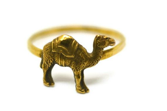 Camel Ring 14K Gold Fill Ring Handforged Animal by fifthheaven, $34.00