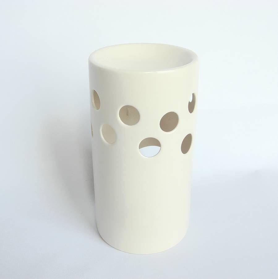 white ceramic oil burner by lauren denney | notonthehighstreet.com